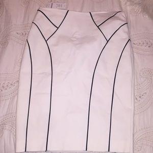 Bebe white skirt